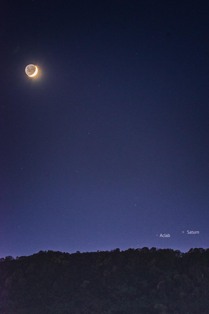 Moon saturn20151017